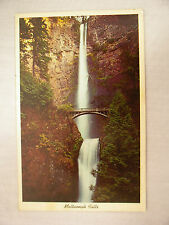 VINTAGE PHOTO POSTCARD WITH A VIEW OF MULTNOMAH FALLS NEAR PORTLAND OREGON 1965