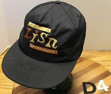 VINTAGE LISN INCORPORATED ELECTRIC TRUCKERS SNAPBACK HAT BLACK EMBROIDERED VGC