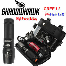 5000lm Genuine Shadowhawk X800 Flashlight L2 LED Zoom Military Tactical Torch