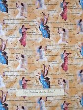 Religious Fabric - Christian Amazing Grace Lyrics Angel Beige - Springs YARD