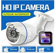 Mini HD 2.0MP 1080P IP Camera Outdoor Bullet Security Network ONVIF P2P 36IR 12V