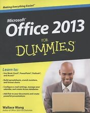 Office 2013 for Dummies by Wallace Wang (2013, Paperback)