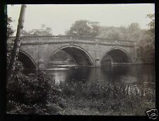 Glass Magic Lantern Slide CLUMBER BRIDGE C1910 WORKSOP ENGLAND