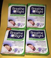 104 BREATHE RIGHT Nasal Strips EXTRA CLEAR Adult Size Sensitive Skin