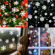 Christmas White Snow Snowflake Decal Window Wall Sticker Vinyl Art Home Decor