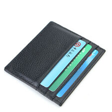 Genuine Leather Slim Thin Credit Card Holder Mini Wallet ID Case Purse Bag Pouch