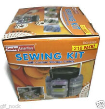 210PC SEWING KIT SET STORAGE CADDY BOX THREAD NEEDLES PINS BUTTONS