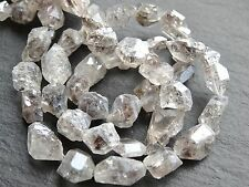 "DIAMOND QUARTZ NATURAL FREEFORM BEADS, approx 9x12mm but variable, 16"", 30 beads"