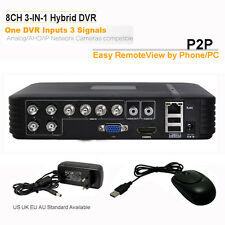 CCTV Security 8CH DVR AHD NVR 3-IN-1 Hybrid Realtime Remote View Video Recorder