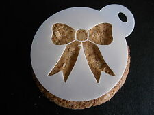 Laser cut small bow design cake, cookie, craft & face painting stencil