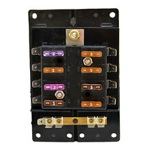 STANDARD PRE-MARKED 8 POSITION BOAT FUSE BLOCK WITH FUSES AND GROUNDING STRIP