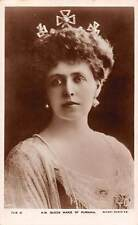 Royalty H.M. Queen Marie of Rumania Rotary Photo Crown Earrings Pearl Necklace