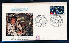 02378) Raketen space Weltraum FDC Frankreich 1989