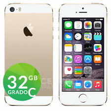 APPLE IPHONE 5S 32GB BIANCO ORO ORIGINALE GOLD GRADO C CON ACCESSORI E GARANZIA