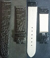 Black Leather band 20mm - 18mm for watch NEW ! L@@K !