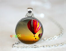 Hot air balloon Summer Sunset dome Tibet silver Chain Pendant Necklace wholesale