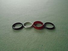 Lot Set 4 Stackable Sz 7.5 Band Rings Mexico 925 Sterling Silver TV-89 Carnelian