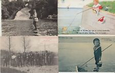 FISHING PÉCHE SPORT 100 CPA (mostly pre-1940)