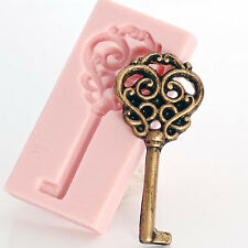 Silicone Skeleton Key Mold Fondant, Chocolate, Resin, Polymer Clay Mold  (001)