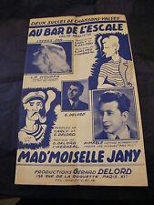 Partition Au bar de l'escale La Houppa Aimable Mad'moiselle Jany Music Sheet