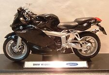 1:18 BMW K1200S K 1200S K 1200 IN BLACK MODEL! TOY BIKE MOTORBIKE SUPERB DETAIL