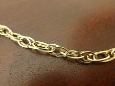 14K ETERNA GOLD YELLOW POLISHED OPEN LINK NECKLACE CHAIN 9.4 GRAMS 18 INCH NEW