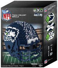Seattle Seahawks BRXLZ Team Helmet 3-D Puzzle Construction Toy New - 1630 Pieces
