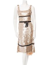AUTHENTIC PRADA SEQUIN GLAM COCKTAIL PARTY BOW DRESS ITALY 40 4 GORGEOUS!!