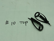 Two SILICON CARBIDE SIC CONCEPT BMNLST size 10 RING TOP Stainless black anodized