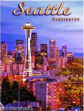 Seattle Washington Space Needle United States America Trvl Advertisement Poster