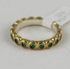 Turkish Hurrem SULTAN 925 Sterling Silver Emerald Lady Eternity Ring Size 8.5