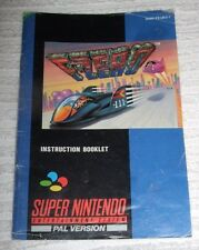 SUPER NINTENDO (VINTAGE) INSTRUCTIONS BOOKLET *** F-ZERO *** USED