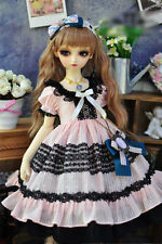 1/3 bjd sd13 girl doll baby pink color dress outfits super dollfie luts #SD-112L