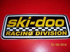 "4"" X 8"" ski-doo Racing Division (NEW Vinyl BLACK,Yellow and White Sticker)..L@@K"