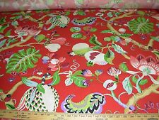 "~13 2/8 YDS~P KAUFMANN~""FRUIT FLOWER""~COTTON DRAPERY UPHOLSTERY FABRIC FOR LESS~"