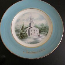 Avon Christmas Plate 1974 Country Church Enoch Wedgwood England 2nd Edition