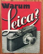 Leica Warum Germany M9 X1 SL M Q S Camera Ad Vintage Poster Metal Sign
