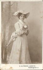 CDV photo Feine Dame - Liegnitz 1900er
