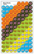 Wow Words superSpots Kids Reward Stickers - 8 Sheets - 6 Assorted Designs