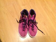 Belle paire mesdames fuchsia rose lames nike cheville baskets taille uk 5.5