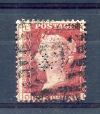 PENNY RED PLATE 1?6 WITH 'B&L' PERFIN