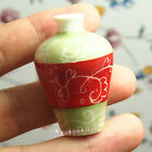 Dollhouse Miniature 1:12 Toy Living Room A Green Red Porcelain Vase H4cm L-339