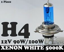 1 x H4 100W / 90W 12V Xenon White 5000k Halogen Car Head Light Globes Bulbs Lamp