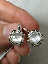 IPPOLITA Silver MOTHER OF PEARL Diamond Drop Earrings .925 Square Lollipop $1195