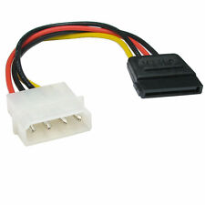 Molex LP4 4 pin to SATA 15 pin Power Adapter Cable Lead [003138]