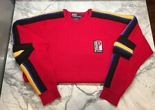 1992 Polo Ralph Lauren Racing Sweater Jacket Vintage P Wing Sport Ski Snow Beach