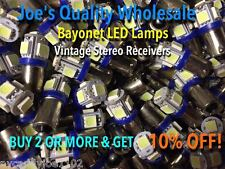 (10)BAYONET LED-LAMPS/6.3V AC-COOL BLUE--STEREO - BA9s MC/MAC/PANEL-1888-1847