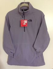NWT THE NORTH FACE WOMEN 1/4 ZIP MINIMAL GREY PULLOVER FLEECE JACKET SMALL