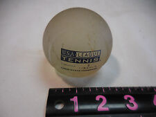 Frosted Solid Glass Paperweight/Trophy Tennis Ball USA LEAGUE 2003 STATE CHAMPS