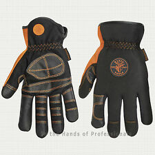 KLEIN TOOLS 40072 Electrican's Work Gloves Large   NEW
